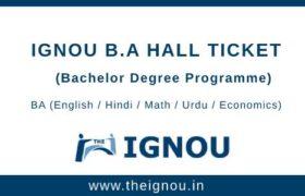 IGNOU BA Hall Ticket