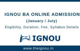 IGNOU BA Online Admission