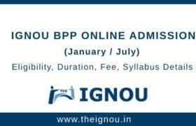 IGNOU BPP Online Admission