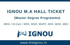 IGNOU MA Hall Ticket