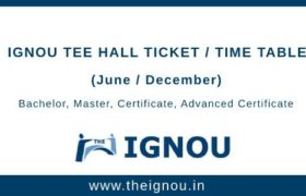 IGNOU Hall Ticket Dec 2019