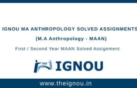 Ignou MAAN Solved Assignments
