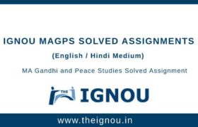 Ignou MAGPS Solved Assignments