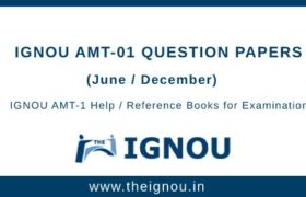 IGNOU AMT-1 Question Papers