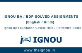 Ignou BA/BDP Foundation Course