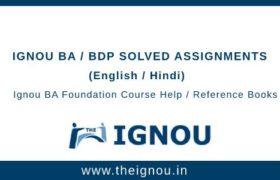 Ignou BA/BDP Foundation Course
