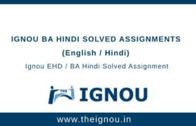 Ignou BA Hindi Solved Assignments