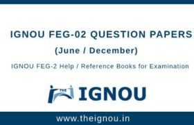 IGNOU FEG-2 Question Papers