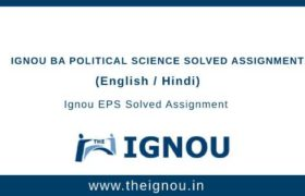 Ignou BA Political Science Solved Assignments