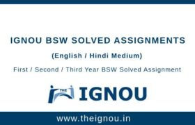 Ignou BSW Solved Assignments