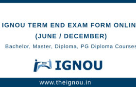 IGNOU TEE EXAM FORM ONLINE