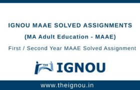Ignou MAAE Solved Assignment