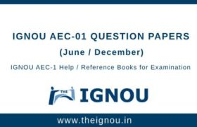 IGNOU AEC-1 Question Papers