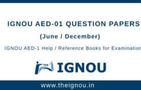 IGNOU AED-1 Question Papers