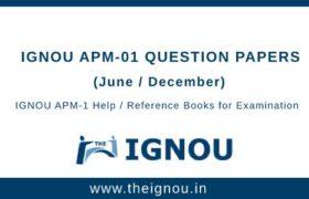 IGNOU APM-1 Question Papers