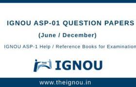 IGNOU ASP-1 Question Papers