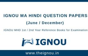 IGNOU MHD Question Papers