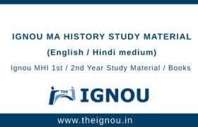 IGNOU MHI Study Material