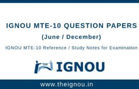 IGNOU MTE-10 Question Papers