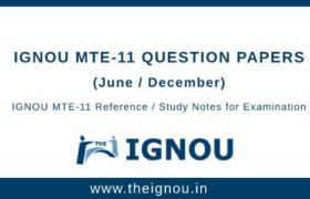 Ignou MTE-11 Question Papers