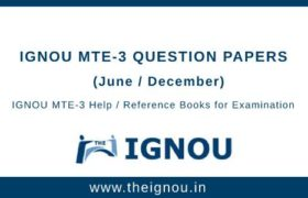 IGNOU MTE-3 Question Papers