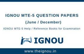 IGNOU MTE-5 Question Papers