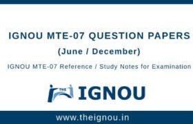 IGNOU MTE-7 Question Papers