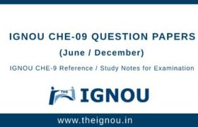 Ignou Che-9 Question Papers
