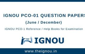 IGNOU PCO-01 Question Papers