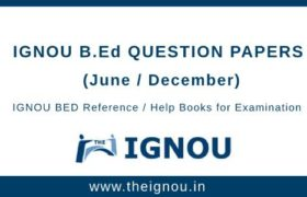 IGNOU B.Ed Question Papers