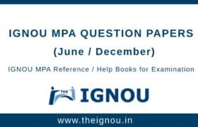 IGNOU MPA Question Papers
