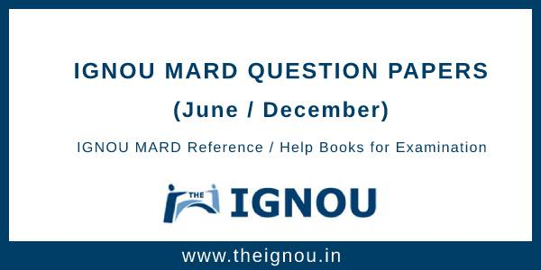 IGNOU MARD Question Papers