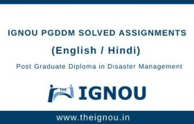 Ignou PGDDM Assignments