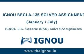 IGNOU BEGLA-135 Solved Assignment