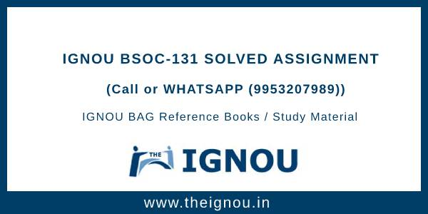 BSOC-131 Solved Assignment