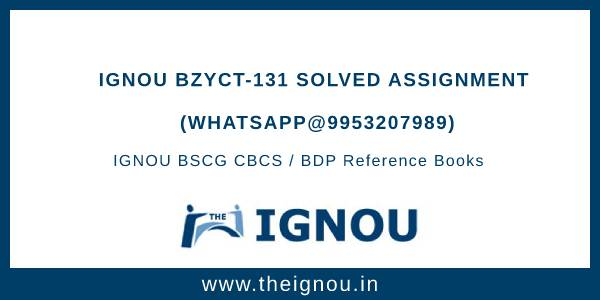 IGNOU BZYCT-131 Solved Assignment