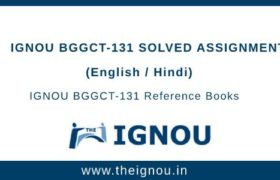 IGNOU BGGCT-131 Solved Assignment