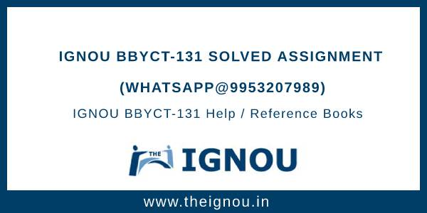 IGNOU BBYCT-131 Solved Assignment
