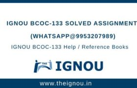 IGNOU BCOC-133 Solved Assignment