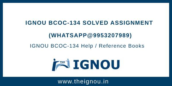 IGNOU BCOC-134 Solved Assignment