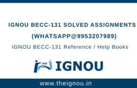 IGNOU BECC 131 Solved Assignment
