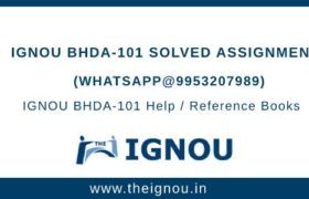 IGNOU BHDA-101 Solved Assignment