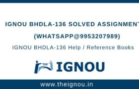 IGNOU BHDLA-136 Solved Assignment