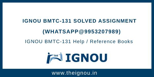 IGNOU BMTC 131 Solved Assignment