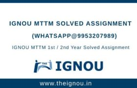 IGNOU MTM Solved Assignment