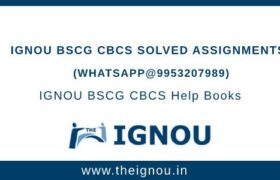 IGNOU BSCG Assignment Free Download