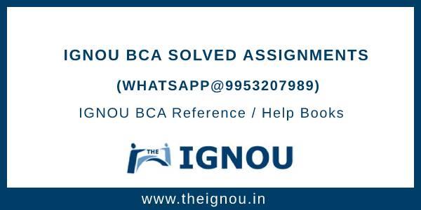 IGNOU BCA Solved Assignment