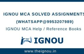 IGNOU MCA Solved Assignment