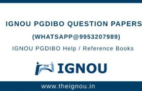 IGNOU PGDIBO Question Papers