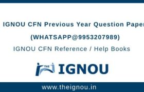IGNOU CFN Question Papers